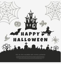 digital black happy halloween vector image