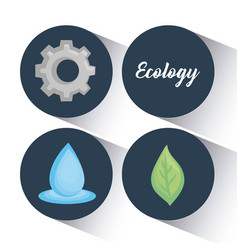 ecology clean energy icons vector image vector image