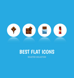 Flat icon bitter set of bitter sweet delicious vector