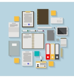 Flat icons for business workflow vector image