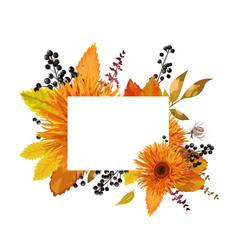 floral design card of autumn orange gerbera vector image vector image