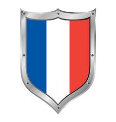 France flag button vector image