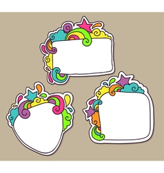 Funky frames vector image
