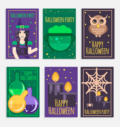 halloween party banners vector image vector image