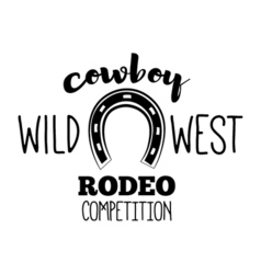 Horseshoe Wild West Label Rodeo Competition Badge vector image vector image