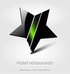 Hotel restaurants business icon vector image