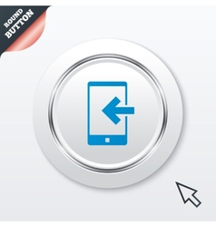 Incoming call sign icon smartphone symbol vector
