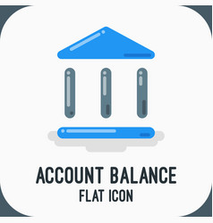 material design icon of banking and finance icon vector image vector image