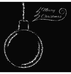 Merry Christmas lights card vector image