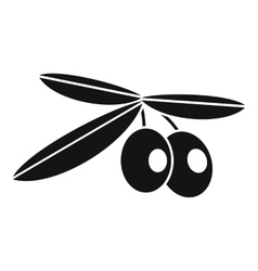 Olives icon simple style vector