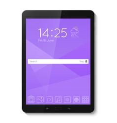Popular top model of modern tablet technological vector