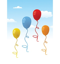 Set of baloons in the sky vector