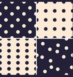 set simple seamless patterns with circles vector image