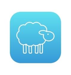 Sheep line icon vector image