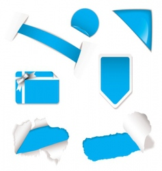 shop sale elements blue vector image