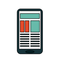 Smartphone with document on screen icon image vector
