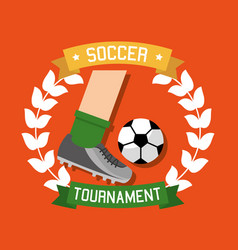 soccer tournament sport competition banner vector image vector image