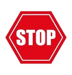 Stop danger precaution sign traffic vector