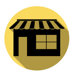 Store sign flat black icon vector