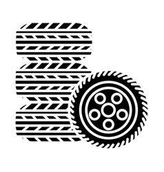 tires - tire service icon vector image