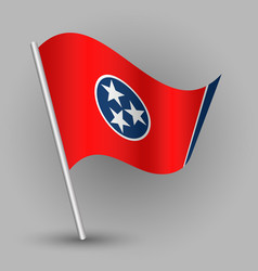Triangle american state tennessee flag vector