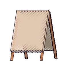 wooden empty blank advertising street color crayon vector image