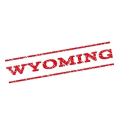 Wyoming watermark stamp vector