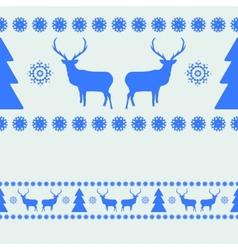 Nordic christmas pattern vector