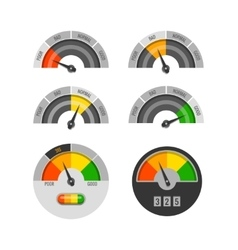 Credit score indicators set vector