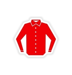 Stylish paper sticker on white background shirt vector