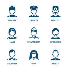 profession icons - set i vector image