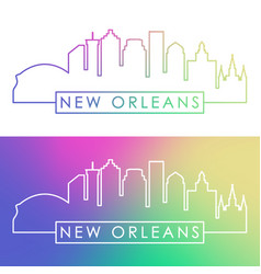 New orlean skyline colorful linear style vector