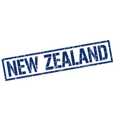 New zealand blue square stamp vector