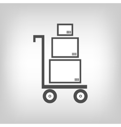 Cart with boxes as delivery symbol vector