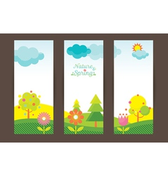 Spring season object icons backdrop vector