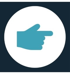 Index finger flat blue and white colors round vector