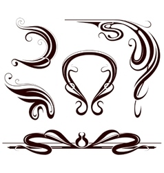 Art nouveau design elements vector