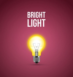 Light bulb on blue background vector