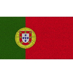 Flags portugal on denim texture vector