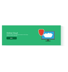 Banner online cloud vector