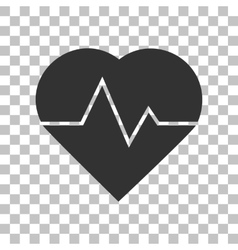 Heartbeat sign  dark gray icon on vector