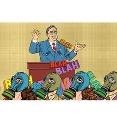 Retro political candidate electoral hygiene vector