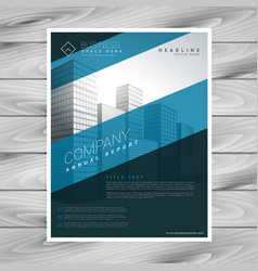Abstract blue company flyer template vector