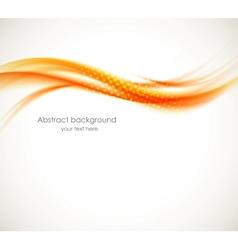 Abstract orange wave vector