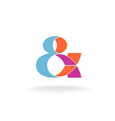 Ampersand logo vector