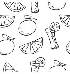 art drink theme doodles vector image