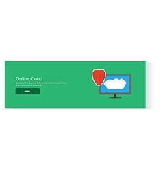 banner online cloud vector image