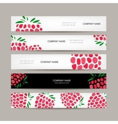 Banners template raspberry design vector image vector image