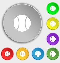 Baseball icon sign symbol on eight flat buttons vector