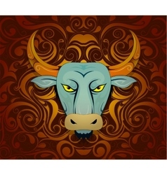 Bull as symbol for year 2021 vector